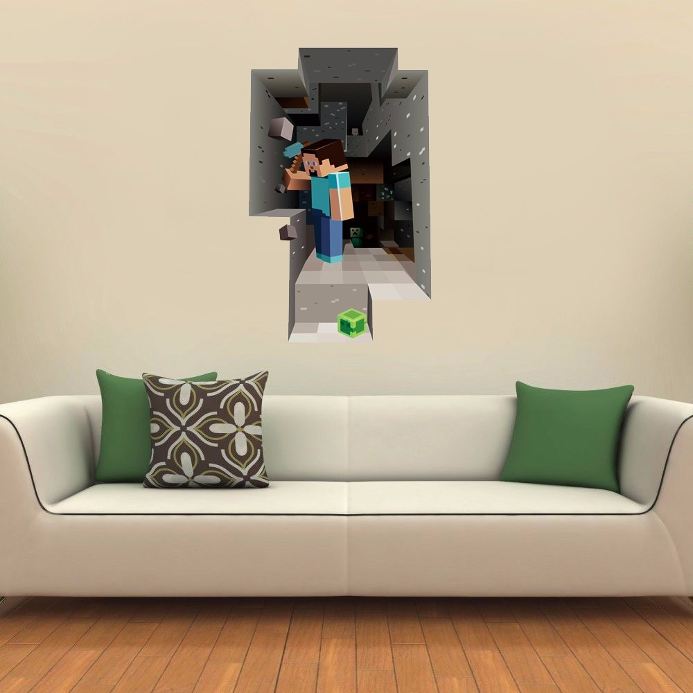 Artesanato Lider ~ Adesivo Decorativo Parede Buraco 3d Minecraft Frete Grátis R$ 59,90 em Mercado Livre