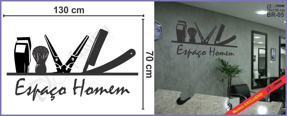 Armario Ikea Aneboda ~ Adesivo Decorativo Parede Cabelo Barbearia Men u00b4s Hair Oferta R$ 79,90 em Mercado Livre