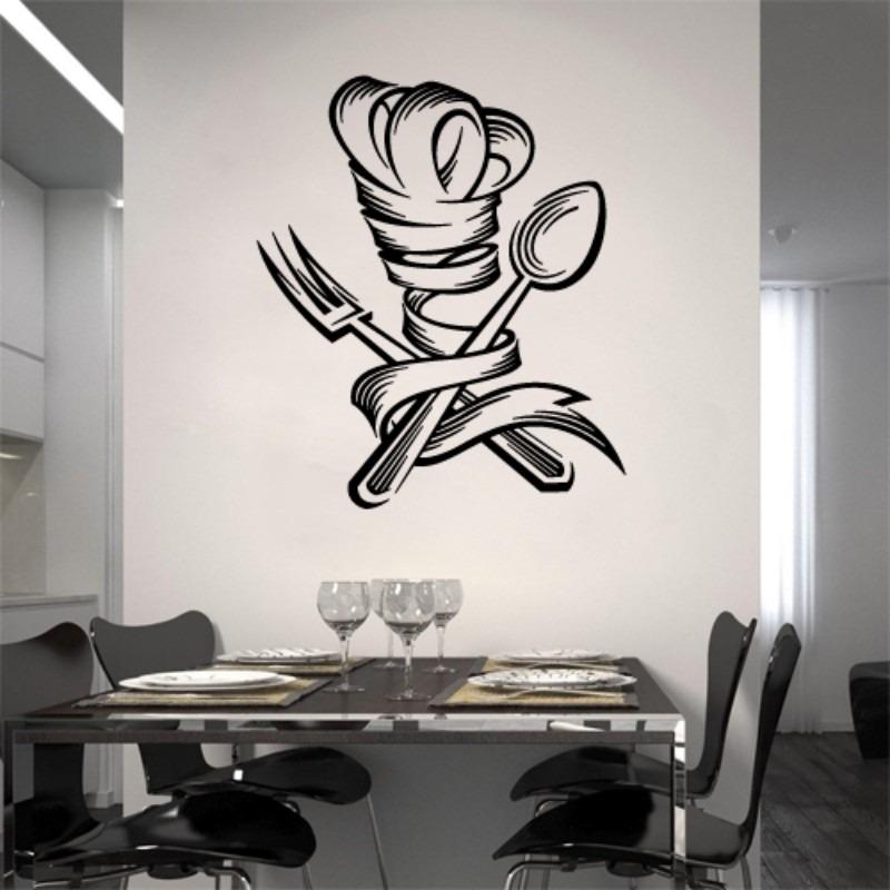 Artesanato Com Tecido E Cola ~ Adesivo Decorativo Parede Chefe Chef Cozinha Copa Sl Jantar R$ 59,00 em Mercado Livre