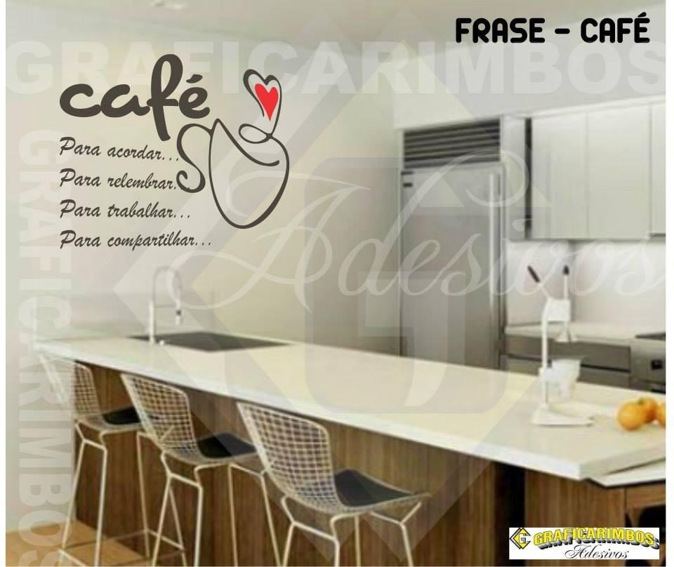 Adesivo De Parede Coruja ~ Adesivo Decorativo Parede Cozinha Geladeira Café Frases R$ 30,00 em Mercado Livre
