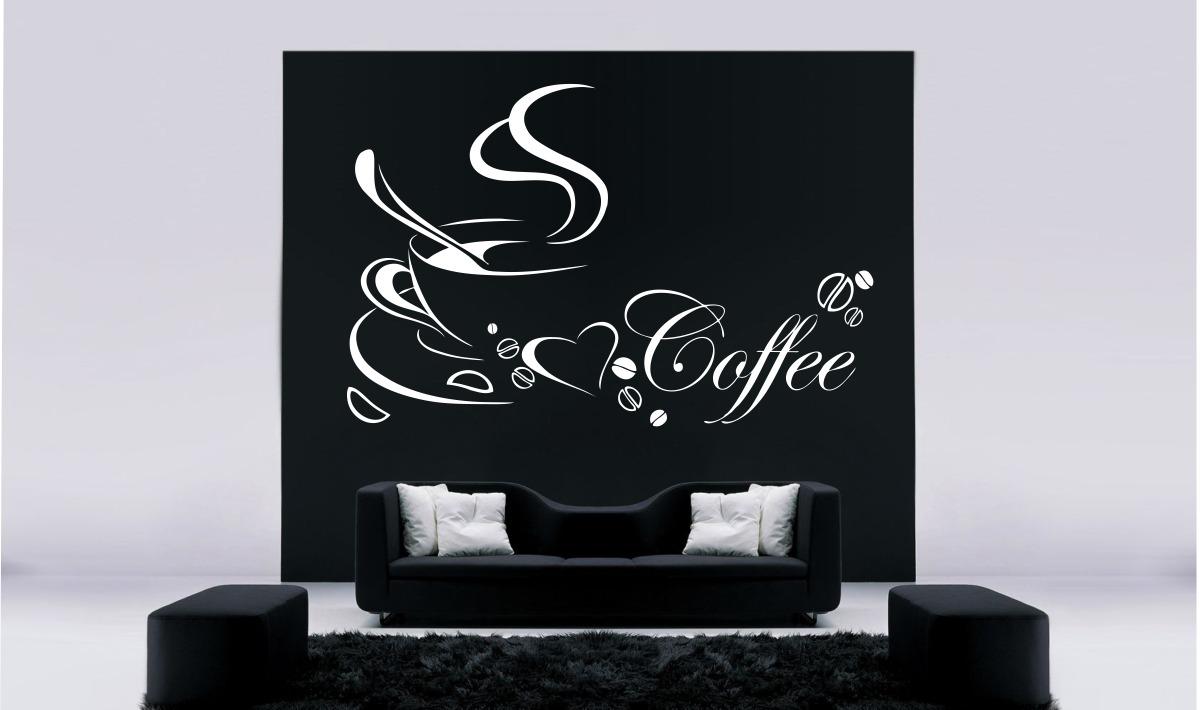 Artesãos Sinonimo ~ Adesivo Decorativo Parede Cozinha Geladeira Café Xícara R$ 29,99 em Mercado L