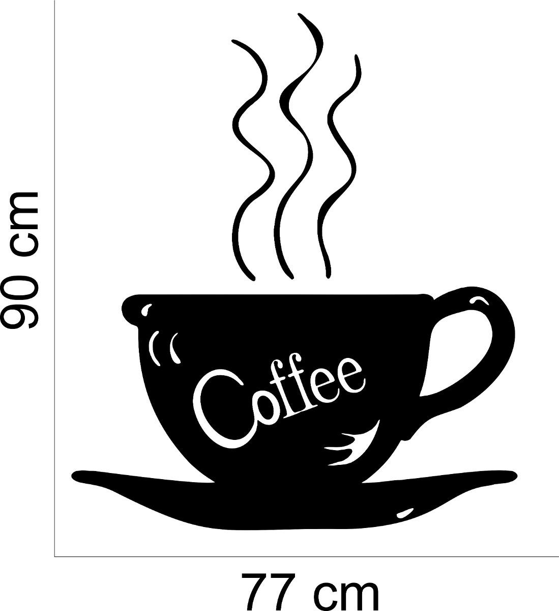 Aparador Azul Tifany ~ Adesivo Decorativo Parede Cozinha Pia Café Coffee Xícara R$ 39,99 em Mercado Livre