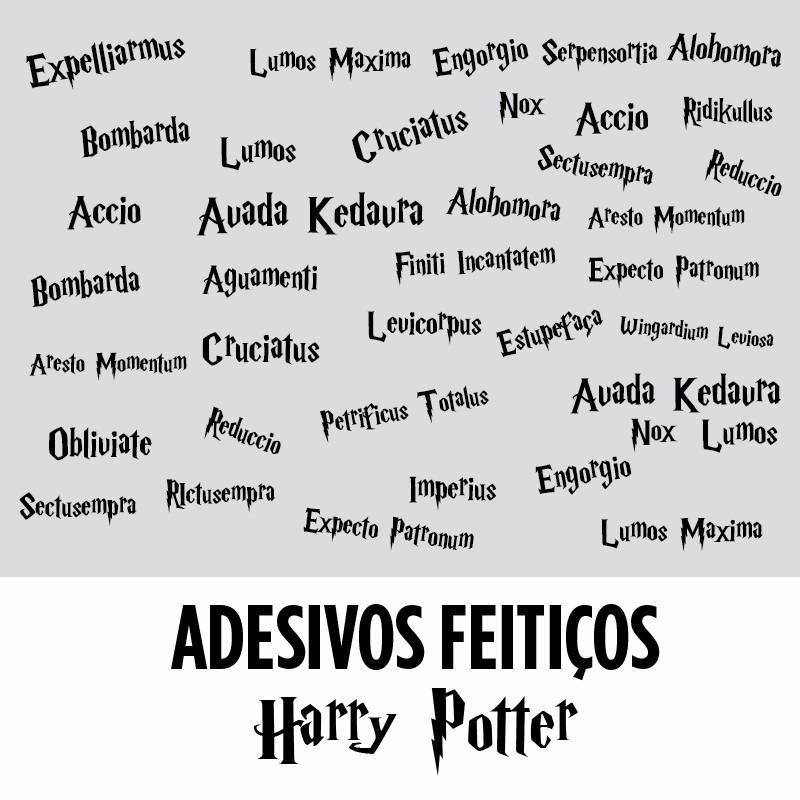 Adesivo De Parede Harry Potter ~ Adesivo Decorativo Parede Feitiços Harry Potter Magias
