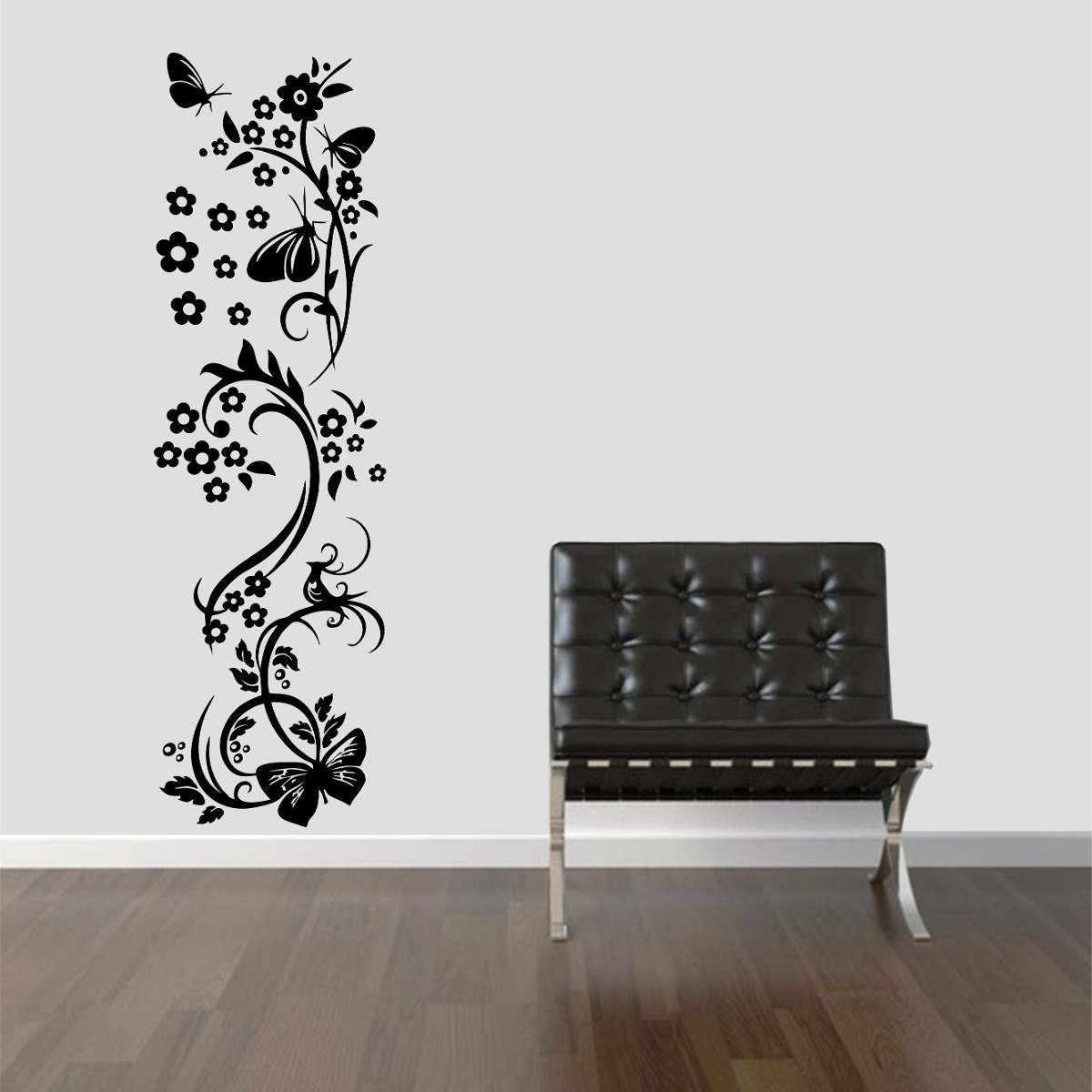 Artesãos Sinonimo ~ Adesivo Decorativo Parede Floral Borboleta Box Geladeira R$ 44,99 em Mercado Livre