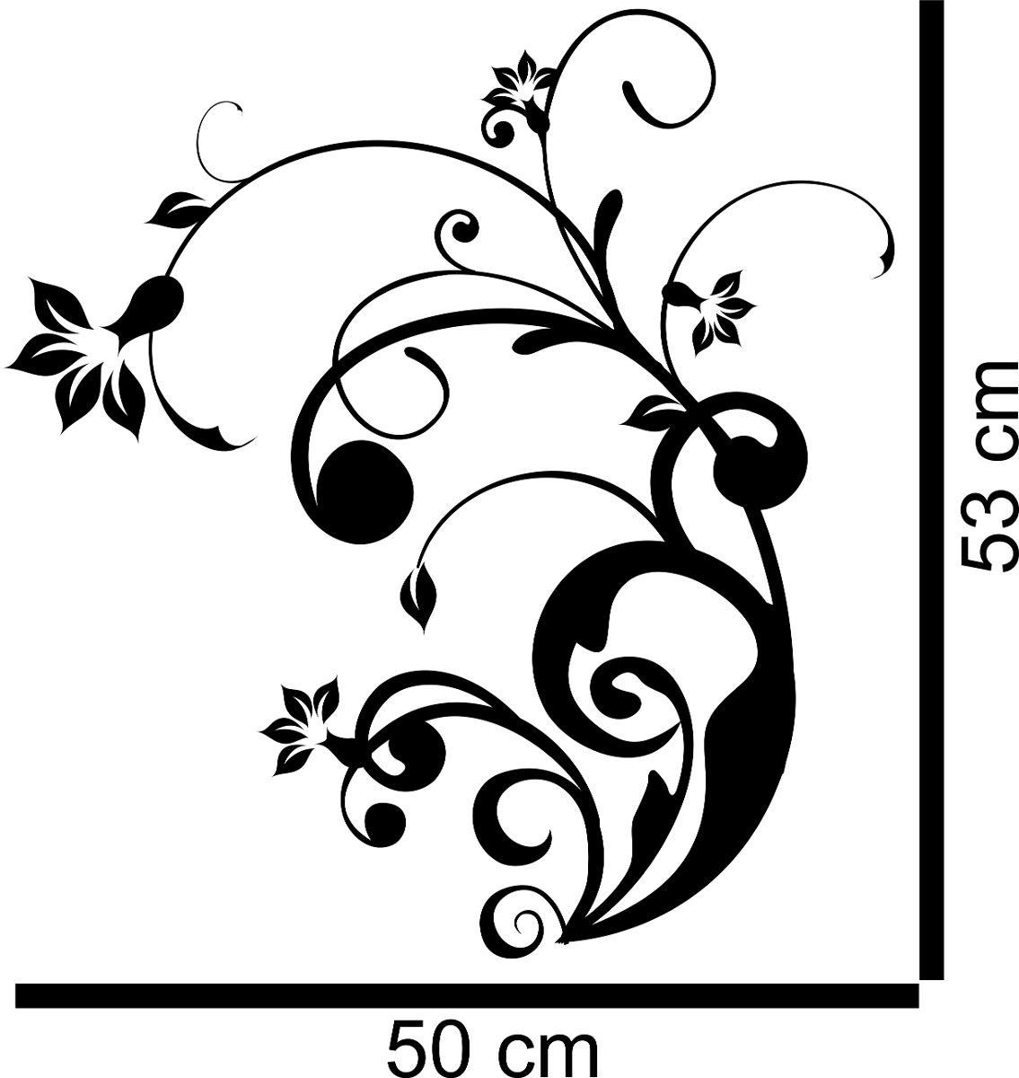 Aparador Verde Envejecido ~ Adesivo Decorativo Parede Floral Flor Borboleta Folha Galho R$ 22,99 em Mercado Livre
