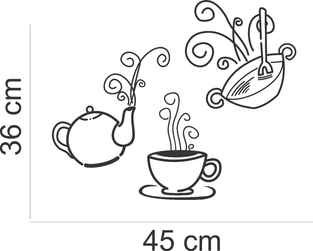 Adesivo Decorativo Parede Geladeira Cozinha Cafe Xicara R 26 28