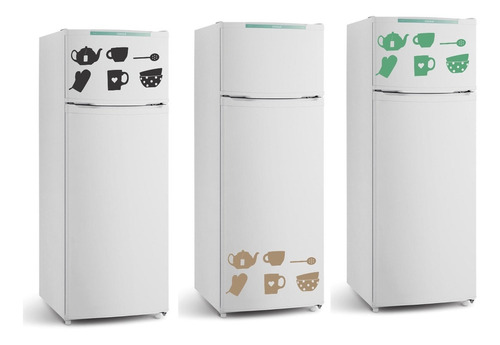 adesivo decorativo parede geladeira cozinha xícara colher