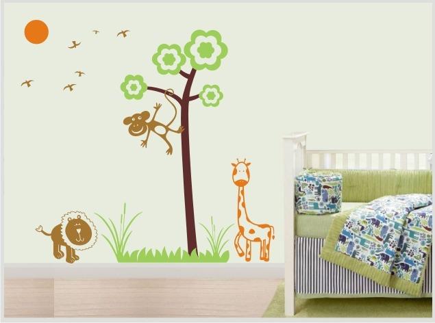 Armario Plastico Rimax ~ Adesivo Decorativo Parede Infantil Quarto Beb u00eaÁrvore Zoo R$ 54,90 em Mercado Livre