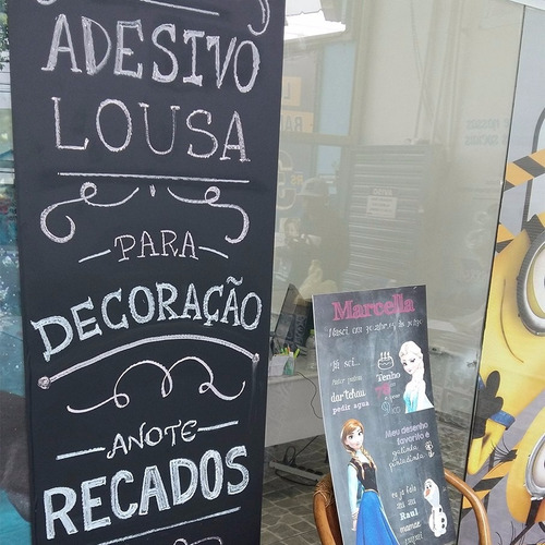 adesivo decorativo parede lousa quadro negro - 2,00m x 75cm