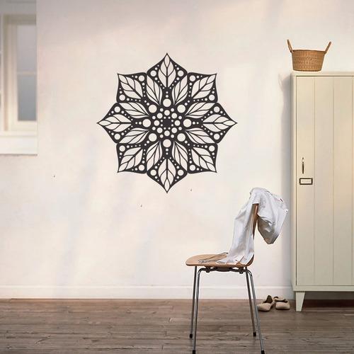 adesivo decorativo parede mandala desenho floral 70cmx70cm