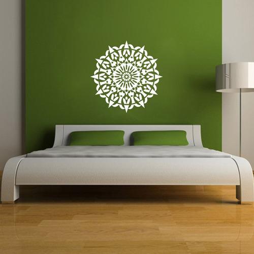 adesivo decorativo parede mandala recorte 80x80 cm
