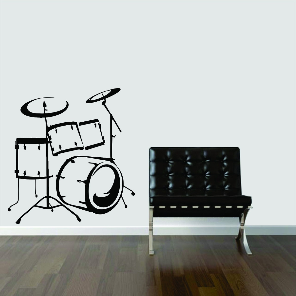Adesivo Decorativo Parede M Sica Guitarra Bateria Rock R 29 99 Em  -> Papel De Parede Para Sala Rock N Roll