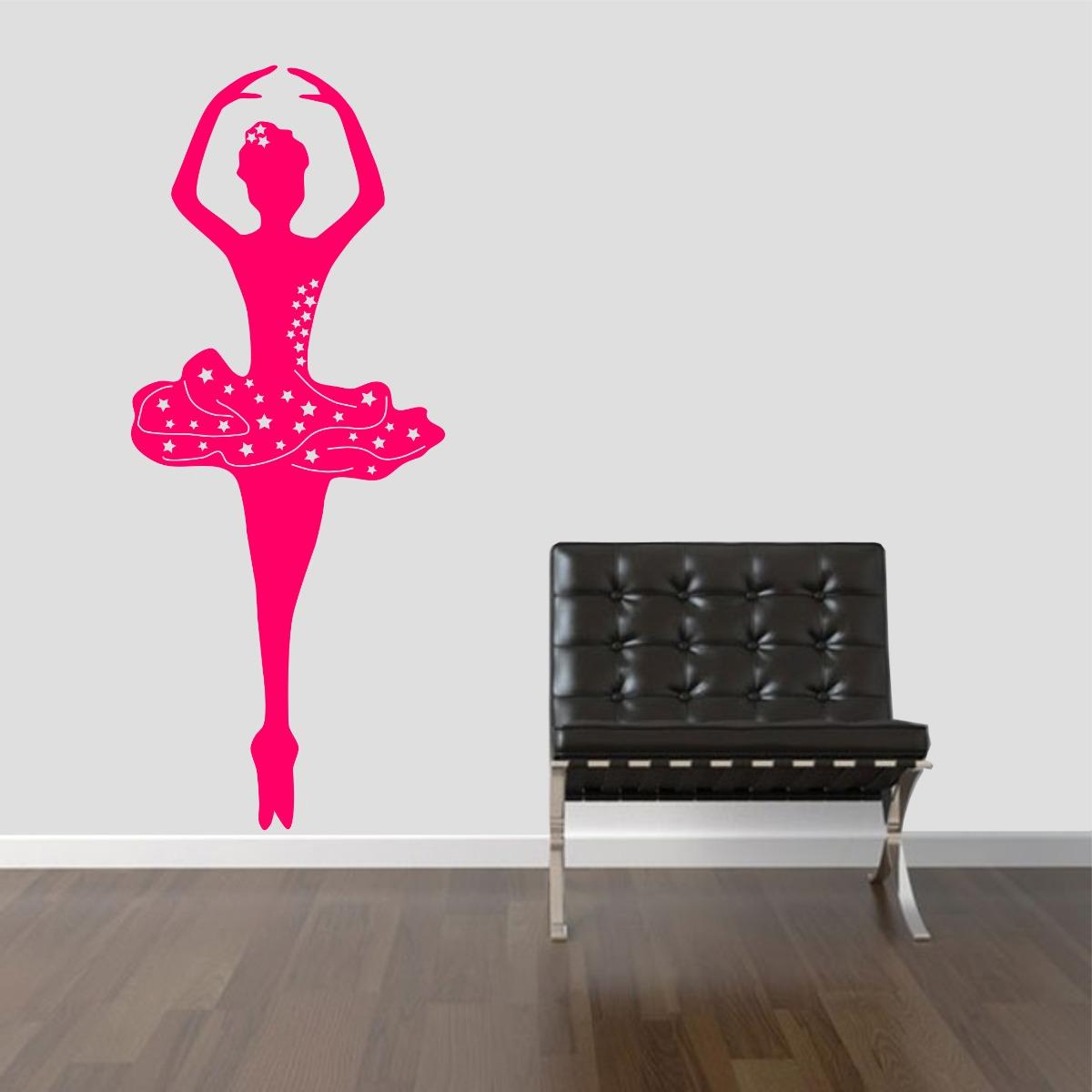 Adesivo Estrela Kalunga ~ Adesivo Decorativo Parede Quarto Infantil Bailarina Rosa R$ 19,99 em Mercado Livre