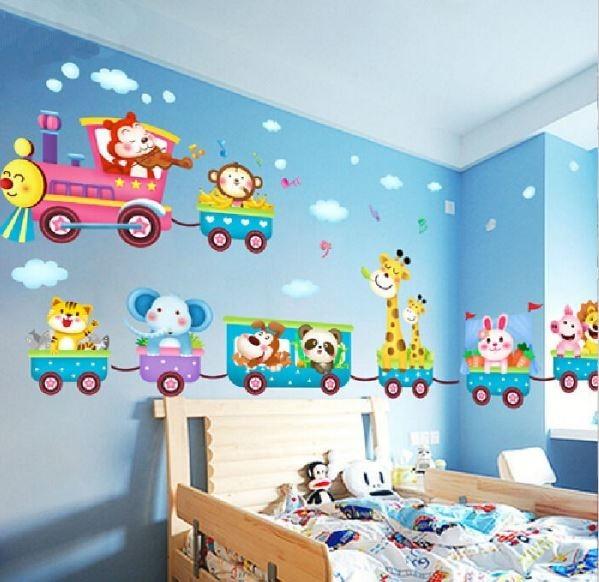 Kids Desire And Kids Room Decor: Adesivo Decorativo Parede Quarto Infantil Trem Vagão