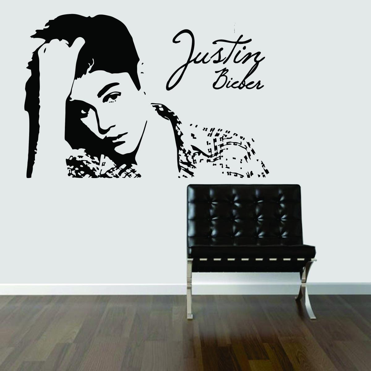 Adesivo De Flores ~ Adesivo Decorativo Parede Quarto Música Justin Bieber R$ 29,99 em Mercado Livre