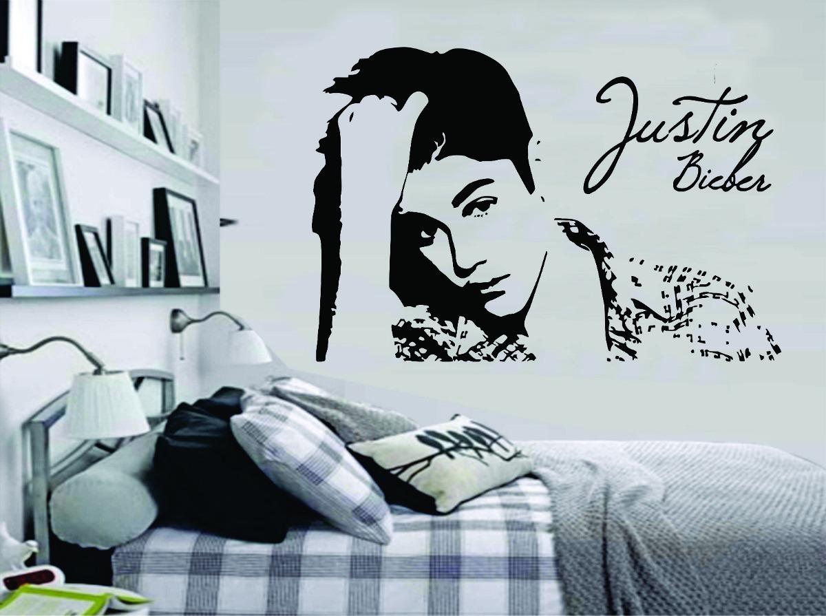 Armario Rustico Segunda Mano ~ Adesivo Decorativo Parede Quarto Música Justin Bieber R$ 29,99 em Mercado Livre