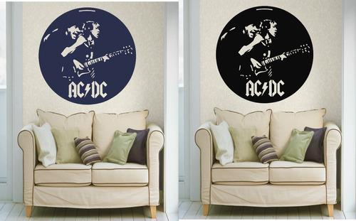 Adesivo decorativo parede quarto sala porta rock banda ac for Bandas protectoras de paredes