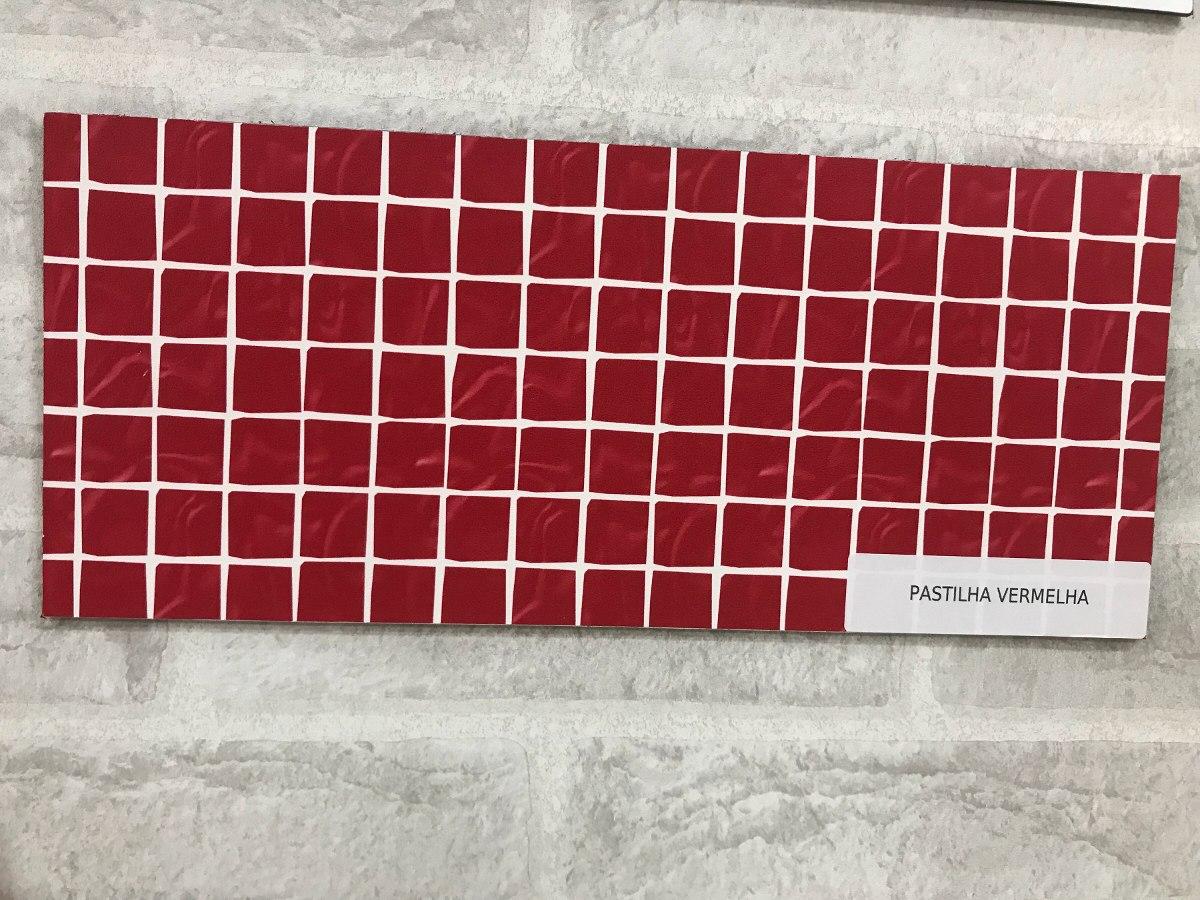 a0d5062ecfa39 adesivo decorativo parede revestimento pastilha vermelha. Carregando zoom.