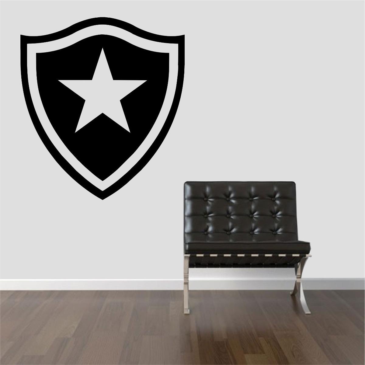 Adesivo Fogo Na Inveja ~ Adesivo Decorativo Parede Sala Escudo Time Botafogo Fog u00e3o R$ 28,99 em Mercado Livre