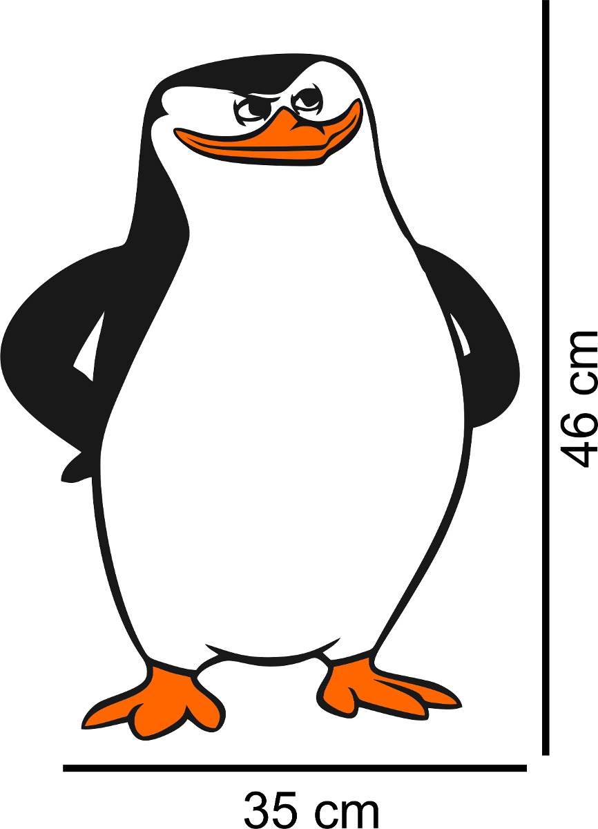 Adesivo Decorativo Parede Sala Pinguim Madagascar Capitao R 26