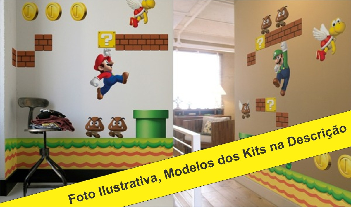 Papel Decorativo Super Mario