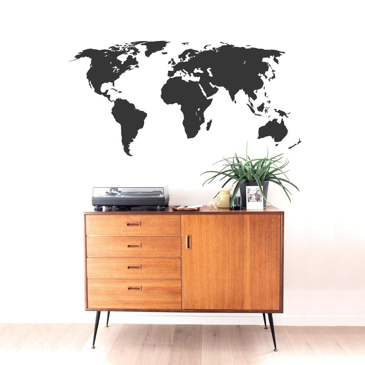 madeira mapa mundo Adesivo Decorativo Parede Vidro Madeira Mapa Mundi   R$ 33,99 em  madeira mapa mundo