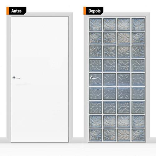 adesivo decorativo porta blocos de vidro pex10