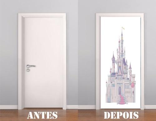 adesivo decorativo porta castelo princesas