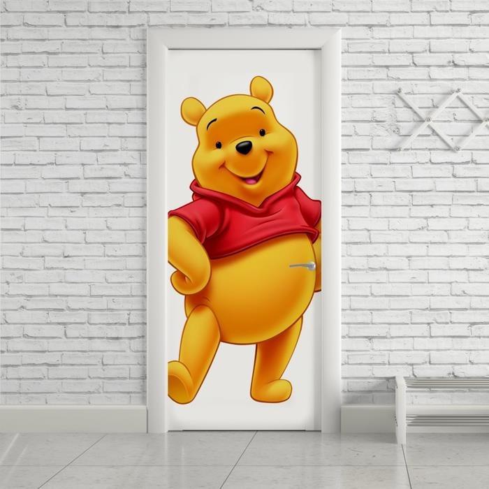 Adesivo Decorativo Porta Desenho Ursinho Pooh Colorido R 149 00