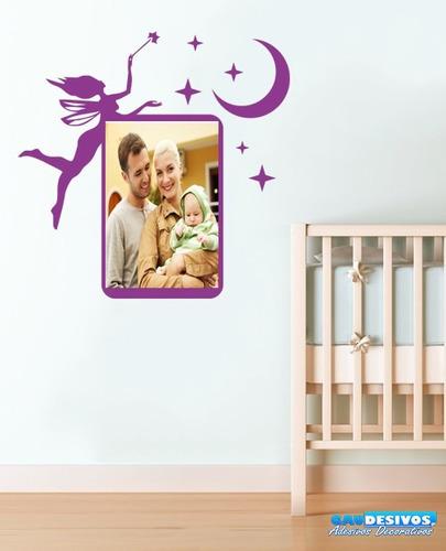 adesivo decorativo porta foto/apagador fada