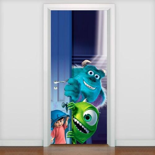 adesivo decorativo porta monstros sa