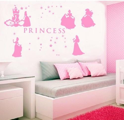 adesivo decorativo princesas disney (95x103)cm