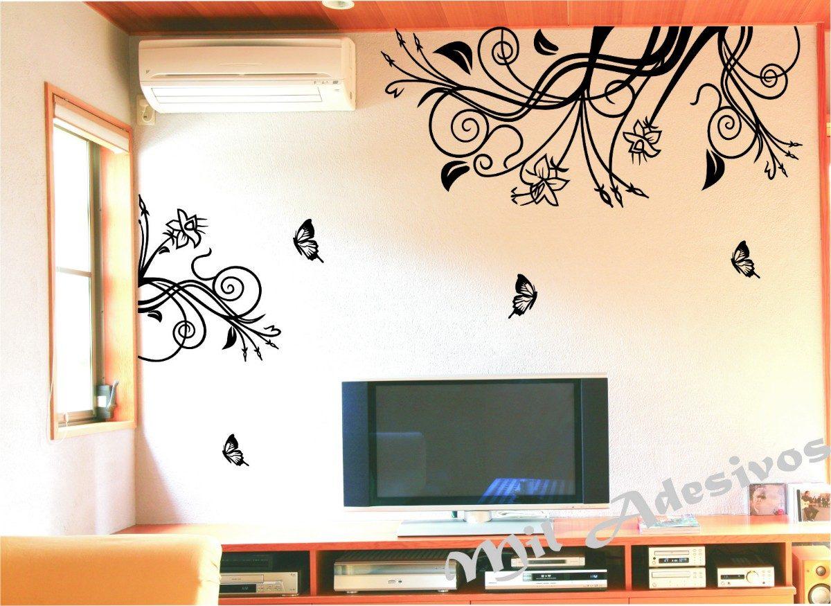 Adesivo Decorativo Quarto Sala Decora O Floral Tamanho 3mx1 R 68  -> Adesivo Para Decoracao De Sala