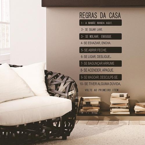 adesivo decorativo regras da casa (040x070)cm