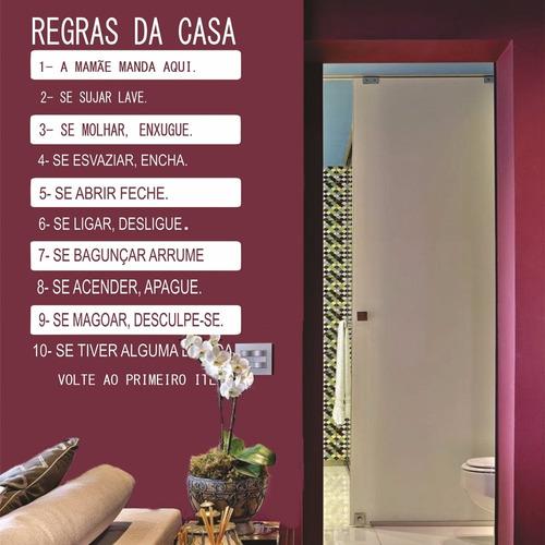 adesivo decorativo regras da casa (095x165)cm
