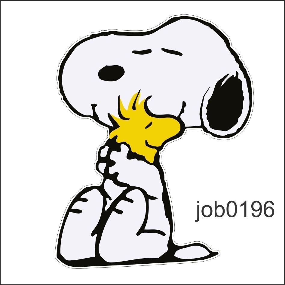 Adesivo Decorativo Snoopy Cachorro Desenho Passaro Job0196