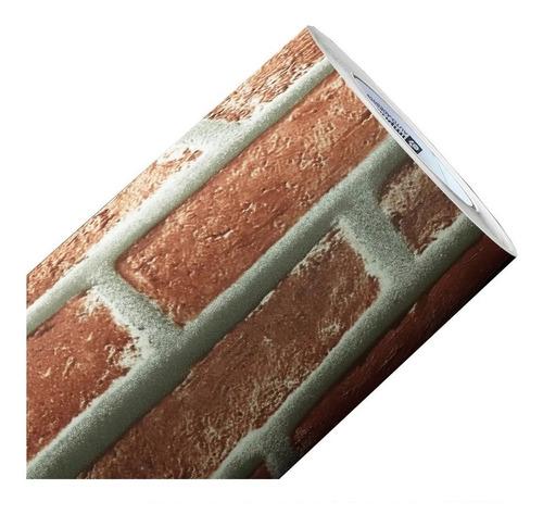 adesivo decorativo tijolo tijolinho parede 1mx1,22m