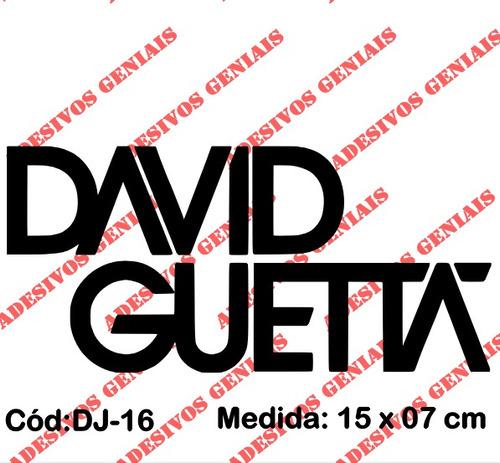 adesivo decorativo top deejay house dj david guetta - dj-16
