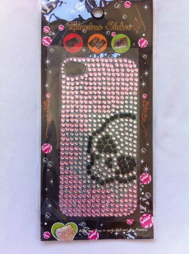 adesivo decorativo traseiro p/ iphone 4 4g 4s - frete grátis