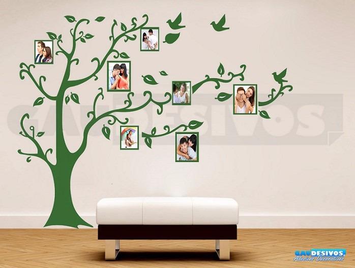 adesivo decorativos de parede  u00c1rvore geneal u00f3gica 2 metros