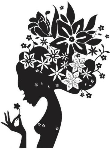 adesivo decorativos floral cabelo da mulher floral