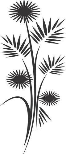 adesivo decorativos floral com girassol
