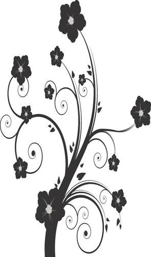 adesivo decorativos floral e rosas