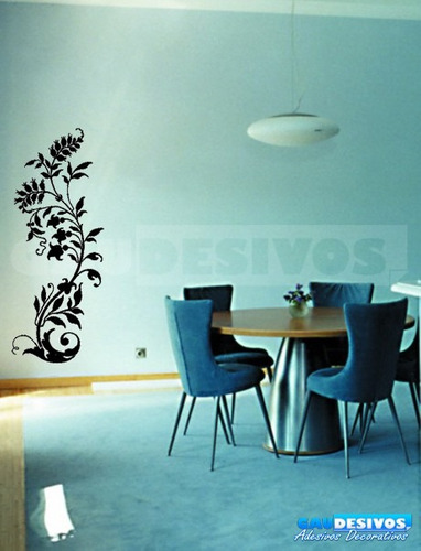 adesivo decorativos floral ramas grande e folhas