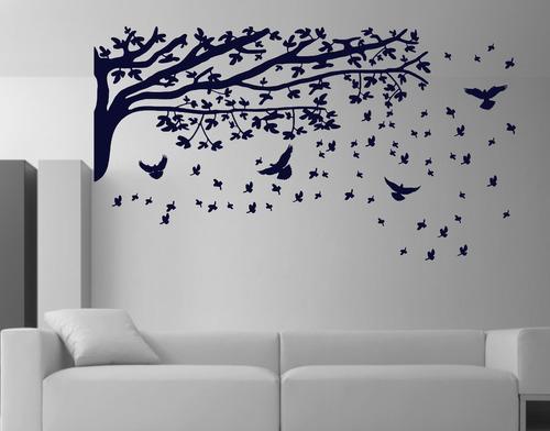 adesivo decorativos galhos pássaros  árvores gameleira