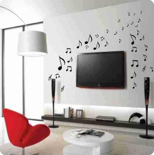 adesivo decorativos - notas musicais para ambientes, quartos