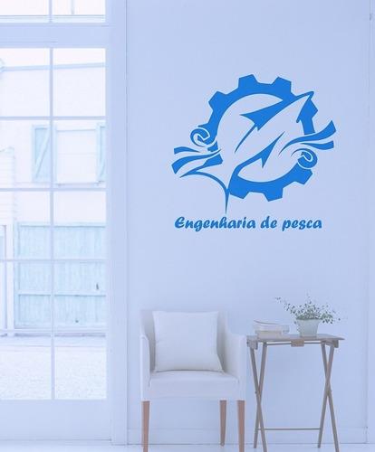 adesivo decoratvo profissão engenharia de pesca, carro, casa