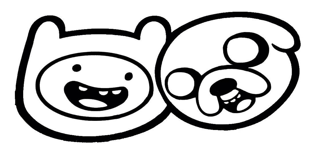 Adesivo Desenho Adventure Time Jake E Finn Hora De Aventura R