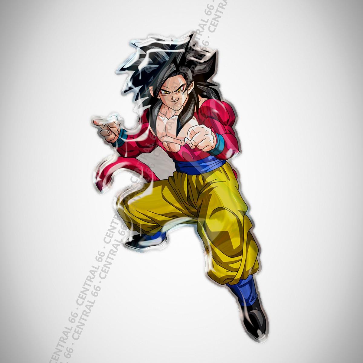 Adesivo Desenho Dragon Ball Gt Goku Ssj4 Resinado R 29 90 Em
