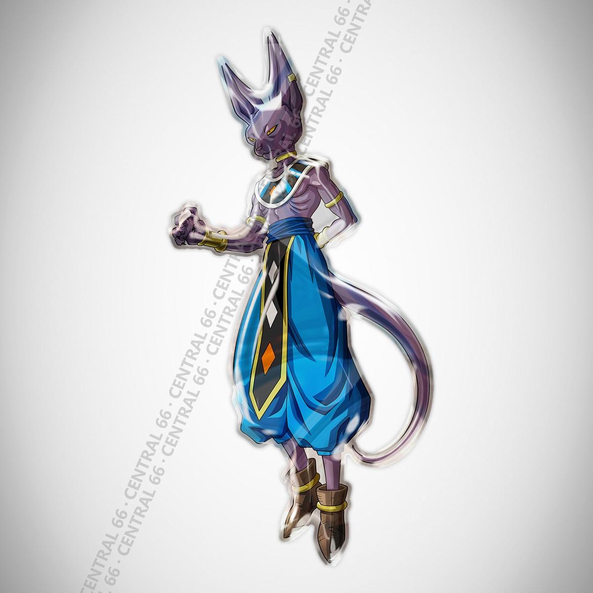 Adesivo Desenho Dragon Ball Z Beerus Resinado
